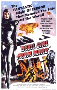 "Promotional Poster for ""Devil Girl from Mars"""